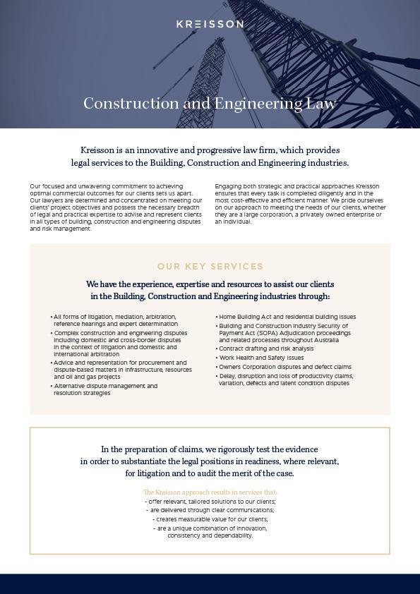 download brochures construction engineering law dispute
