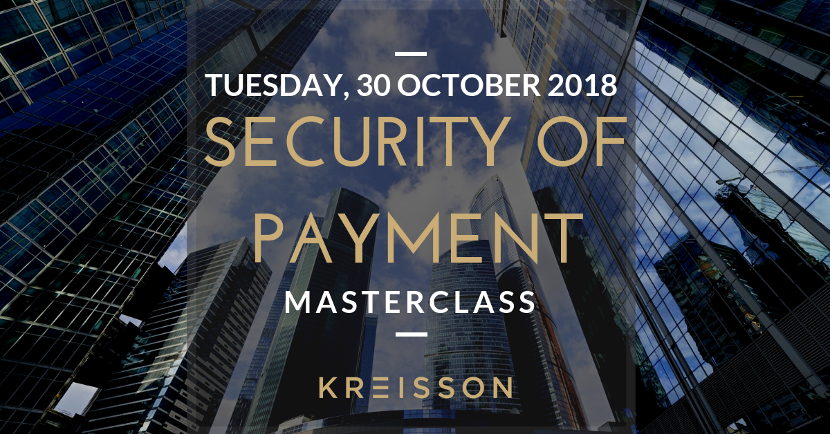 Security of Payment Masterclass 2018