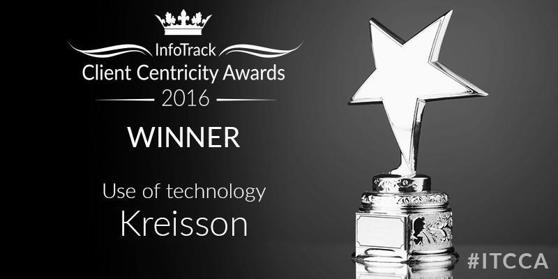 Kreisson Infotrack Customer Centricity Awards 2016